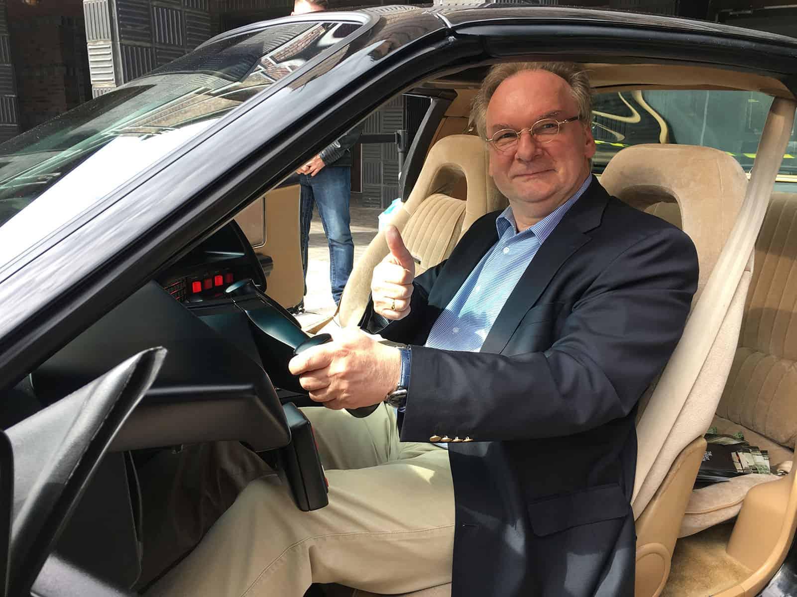 Rainer Haseloff KITT Replika CDU Knight Rider of Germany