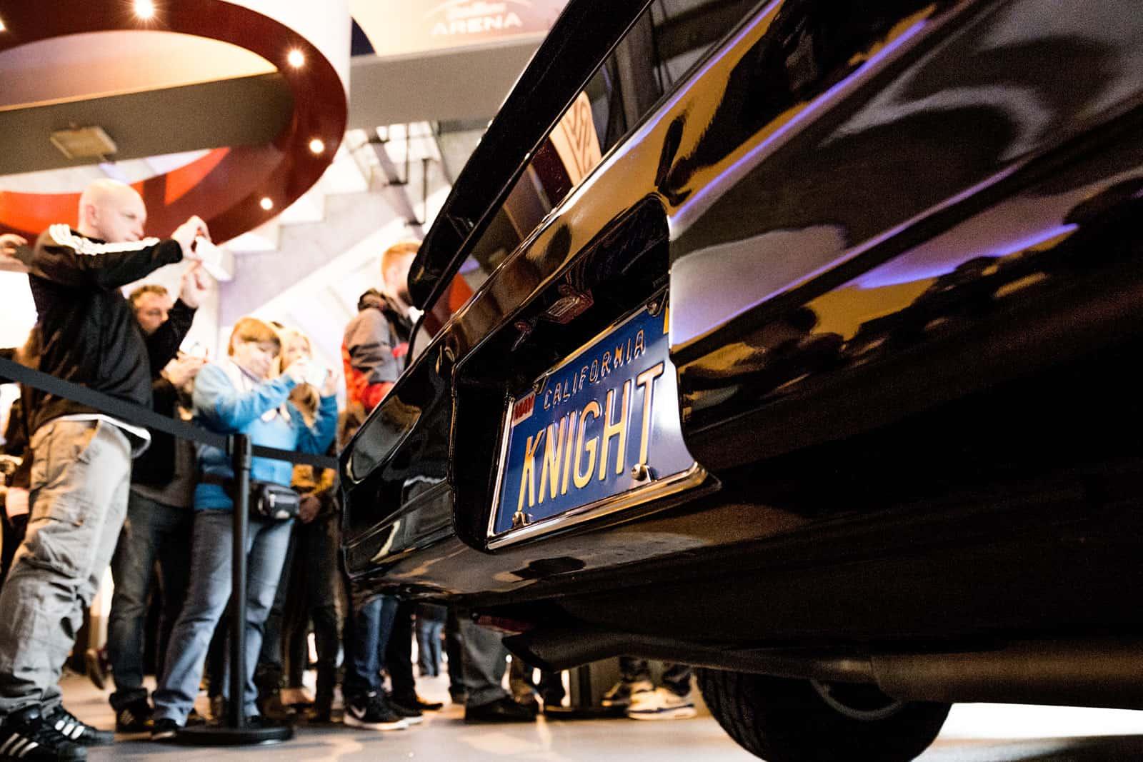 KITT Replika Heck mit Fans License Plate Knight Rider of Germany
