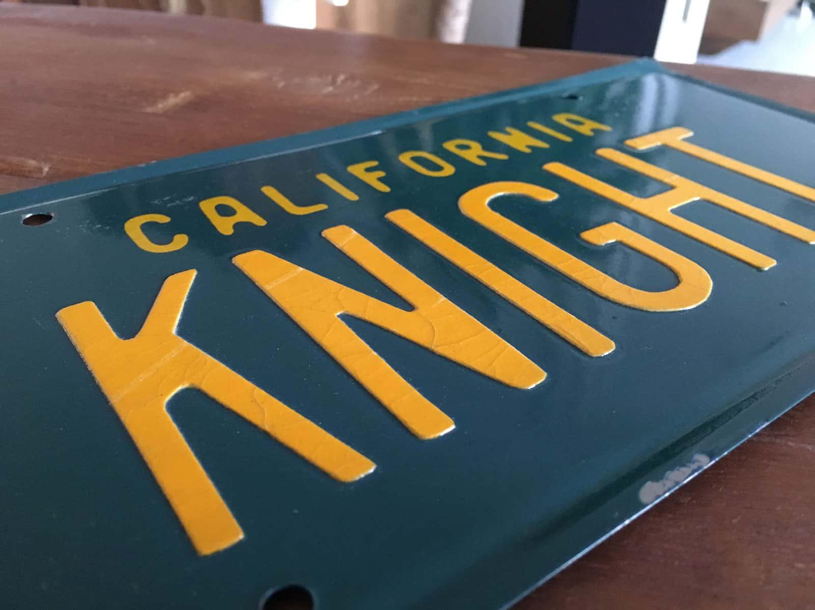 KITT Replika Original License Plate Prop Knight Rider of Germany